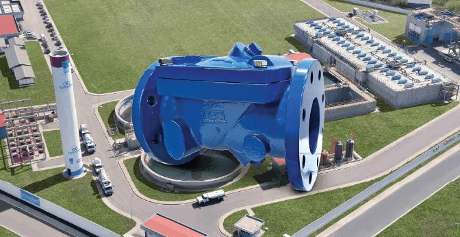 tratamento de esgoto - válvula de retenção - válvula de retenção de esgoto - siderurgia - mineração